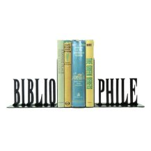 Bibliophile Metal Bookends